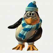 stock photo of feeling stupid  - 3d penguin - JPG