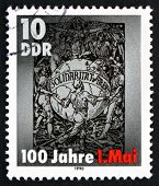 Postage Stamp Gdr 1990 Workers Around The Globe