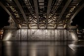 Under The Margit Bridge In Budapest, Hungaria