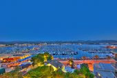 Ibiza San Antonio Abad Sant Antoni Portmany sunset in Balearic islands