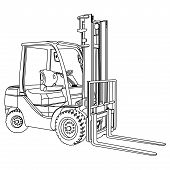 Forklift Outline Vector.eps