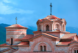 picture of former yugoslavia  - Saint Panteleimon Monastery in Ohrid - JPG