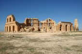foto of libya  - The theater in the Roman ruins of Sabratha, in Libya