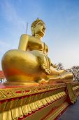 Gold Buddha Statue At Pattaya Thailand