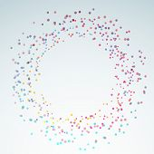 Colorful Bright Round Circle Design Element