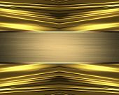 pic of nameplates  - Abstract gold texture with gold nameplate - JPG