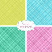 image of cross-hatch  - Vector set of seamless patterns with irregular crossing lines - JPG