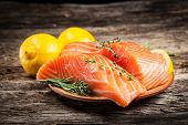 Fresh Salmon With Lemon