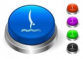 Diving Icons on Round Button Collection