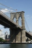 Brooklyn Bridge Downstream Side Angle