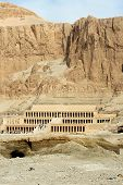 stock photo of mortuary  - The Mortuary Temple of Queen Hatshepsut the Djeser - JPG