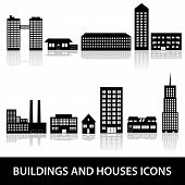 buildings and houses icons eps10