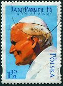 POLAND,  circa 2005: postage stamp printed in Poland showing an image of John Paul II, circa 2005