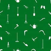 gardening tools pattern eps10