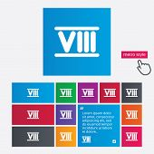 picture of roman numerals  - Roman numeral eight sign icon - JPG