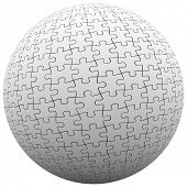 Jigsaw Puzzle Pieces Ball Sphere Earth Peace Harmony