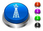 Oil Drill Icons on Round Button Collection