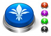 Fleur De Lis Icons on Round Button Collection