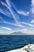 Mount Vesuvius From A Boat
