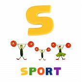 Illustrated alphabet letter S