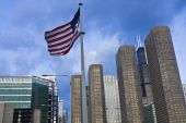 Us Flag And Presidential Towers