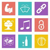 Color icons for Web Design set 48