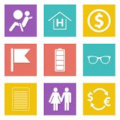 Color icons for Web Design set 47