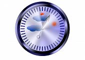 pic of barometer  - barometer isolated on a white - JPG