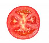 One slice of ripe tomato