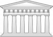 Greek Temple with Doric columns