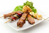 Grilled Foods Garnished with Parsley