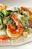 picture of caesar salad  - Seafood Caesar Salad with Shrimps - JPG