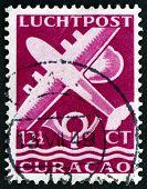 Postage Stamp Netherlands Antilles, Curacao 1947 Plane