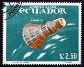 Postage Stamp Ecuador 1966 Gemini 6, Manned Spaceflight