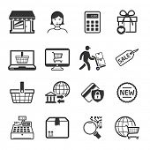 Shopping icons set 02 // BW