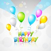 colorful vector background of birthday
