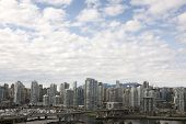 Skyline Of Condominiums In Vancouver, British Columbia, Canada
