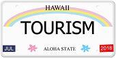 Tourism Hawaii License Plate
