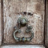 Ancient door handle Thai style