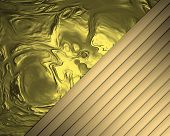Abstract Gold Background With Golden Ribbons
