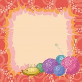 Background, accessories for knitting