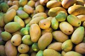 picture of food truck  - Fresh mangoes in pickup truck on the street - JPG