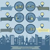 Set of elements infrastructure city, vector infographics