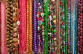 Strings Of Colorful Beads And Gem Stones
