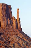 Sandstone tower in Monument Valley, Navajo Tribal Park, Usa