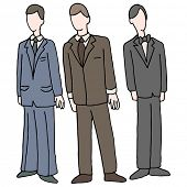An image of men wearing formal attire.