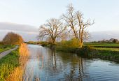 Somerset canal Bridgwater and Taunton England UK