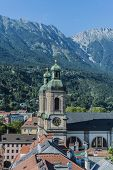 Cathedral Of St. James In Innsbruck, Austria.