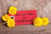 Label With Am 11 Mai Ist Muttertag