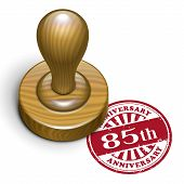 85Th Anniversary Grunge Rubber Stamp